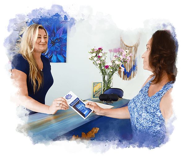Pick up a brochure on the Living Blu