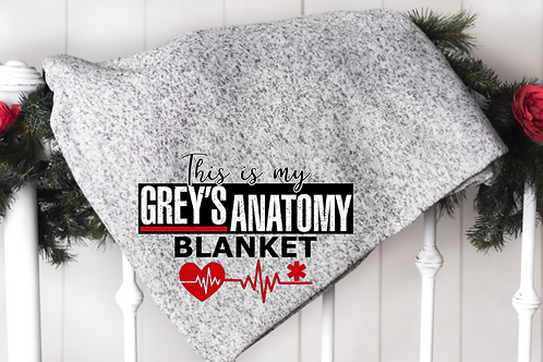 This is my Grey's Anatomy watching blanket