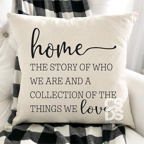 Home the story of who we are and a collection of the things we love