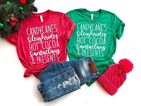 Candy Canes Sleigh Rides Hot Cocoa Santa Claus & Presents