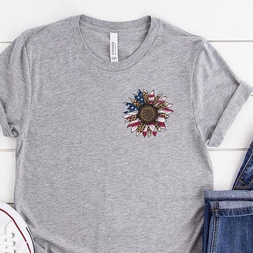 Patriotic Sunflower (chest)