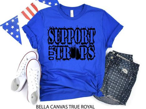 Support our troops (black)