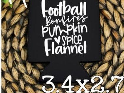 Football Bonfires Pumpkin Spice Flannel