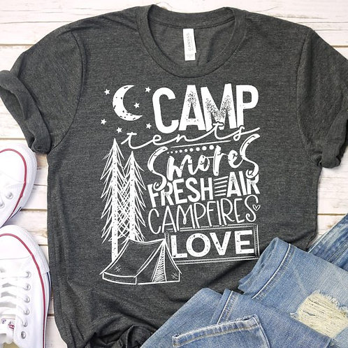 Camp tents smores freshair campfires love