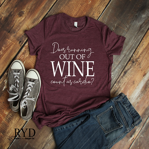 Does running out of wine count as cardio?
