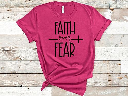 Faith Over Fear (Black ink)