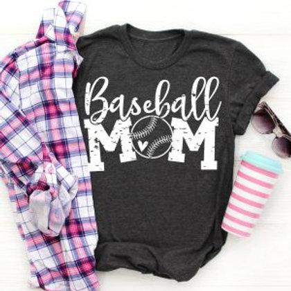 Baseball Mom with small heart