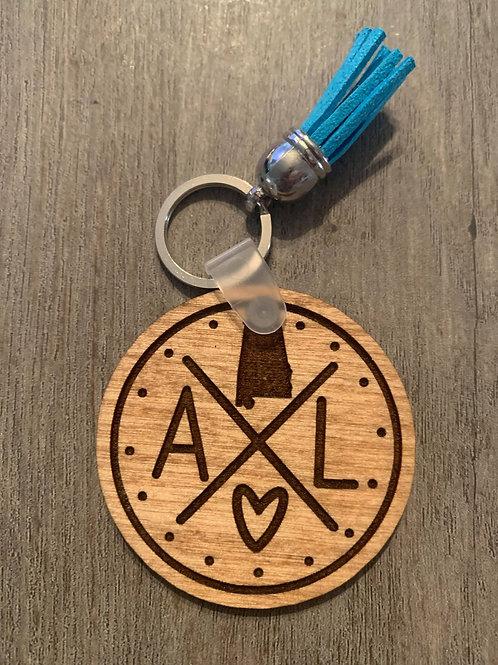 Alabama Circle Keychain