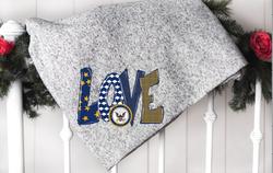 Love Navy Blanket