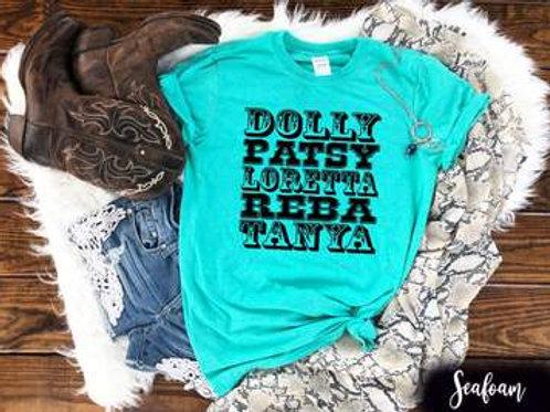 Dolly Patsy Loretta Reba Tanya