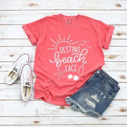 Resting Beach Face (white)