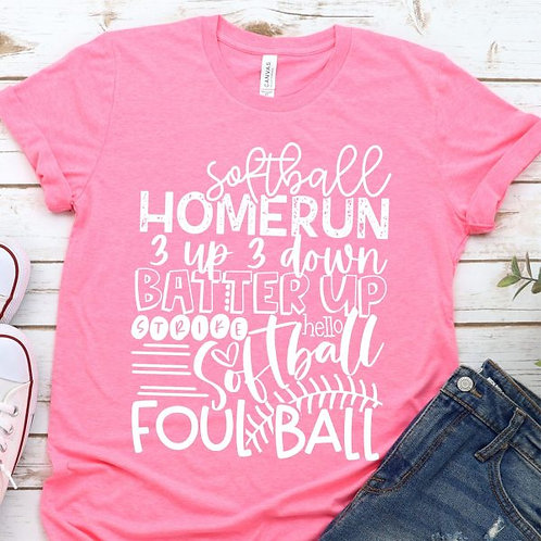 Softball Word Art