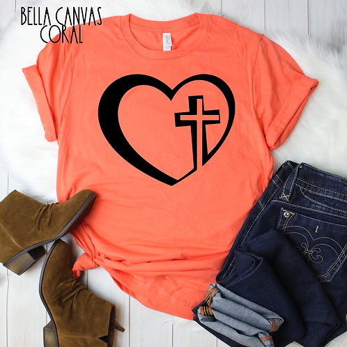 Heart with cross (black Ink)