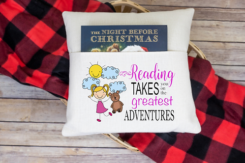 Reading takes you to pocket pillow cover
