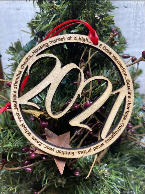 2021 Round Wood Ornament