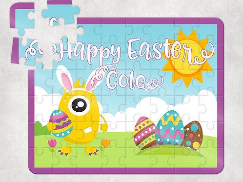 Happy Easter Purple Puzzle