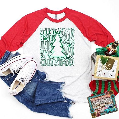 Christmas Word Art (green ink)