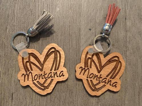 Montana Heart Keychain