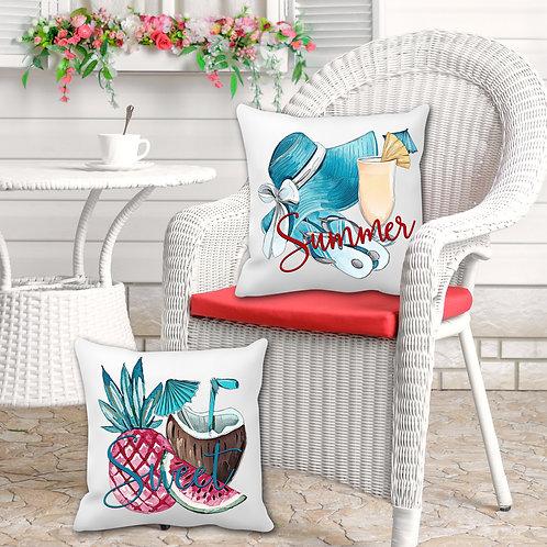 Summer pillow covers