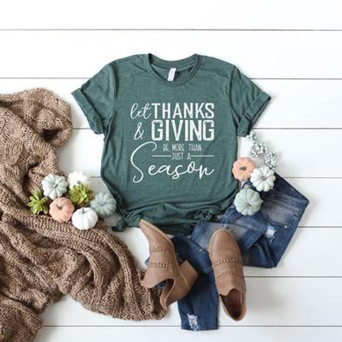 Let Thanks and Giving be more than just a season