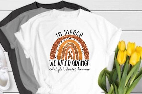 In March we wear orange