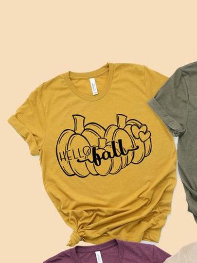 Hello Fall (three pumpkins)