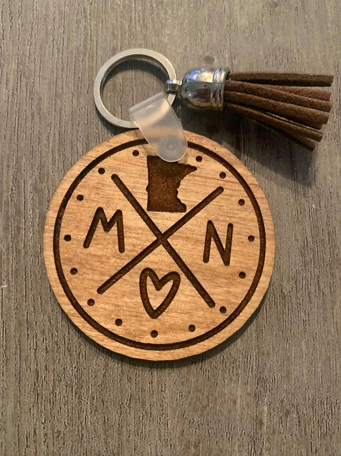 Minnesota Circle Keychain