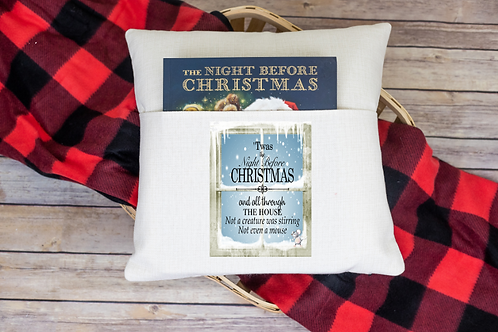 Twas the night before Christmas pocket pillow cover