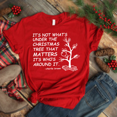 It's not what's under the Christmas tree that matters. It's who's around it