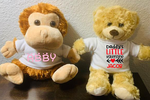 Personalized Monkey with T-shirt