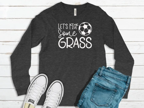 Let's kick some grass (black ink only)