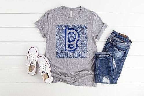 Basketball Word Art (Blue)