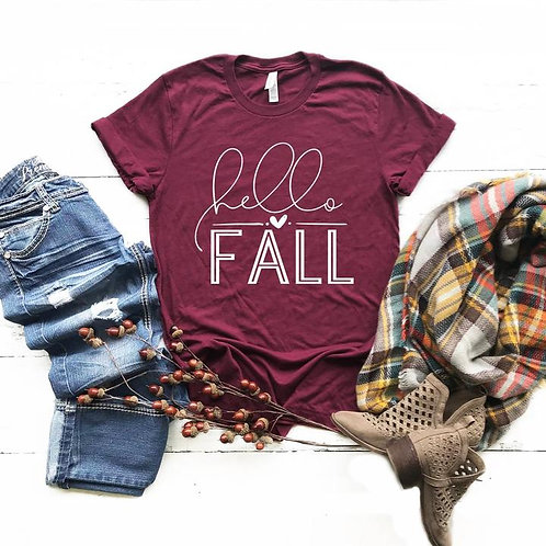 Hello Fall with small heart