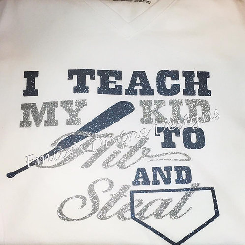 Baseball/I teach my kids to hit and steal