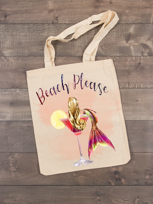 Beach Please Tote (sublimation)