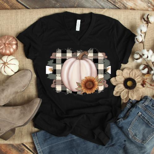 Plaid Sunflower Pumpkin