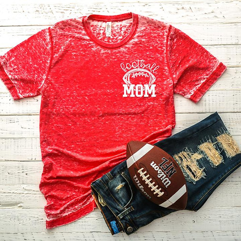 Football Mom (chest size logo)