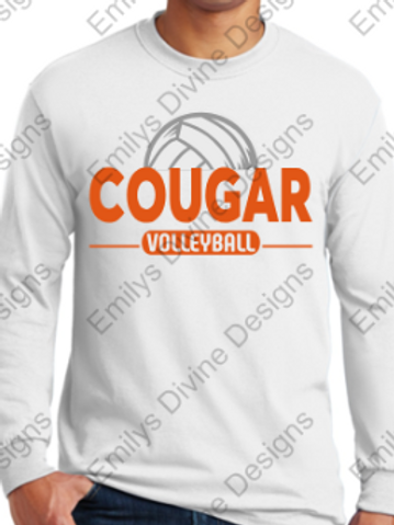 Cougar Volleyball Long Sleeve Unisex