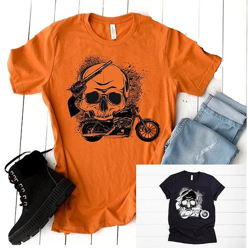 Skull, Gun, Motorcycle