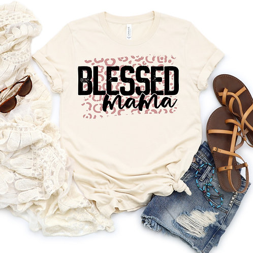 Blessed Mama (rose gold leopard)