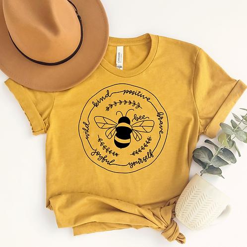 Bee Kind-Positive-Brave-Yourself-Joyful-Wild