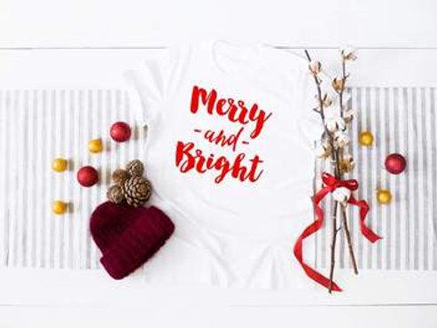 Merry and Bright (red ink)