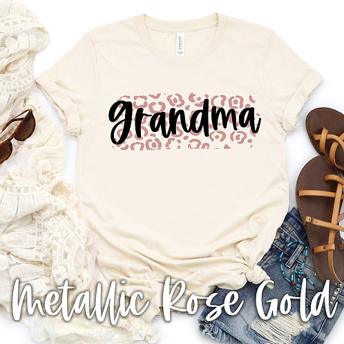 Grandma (rose gold metallic)