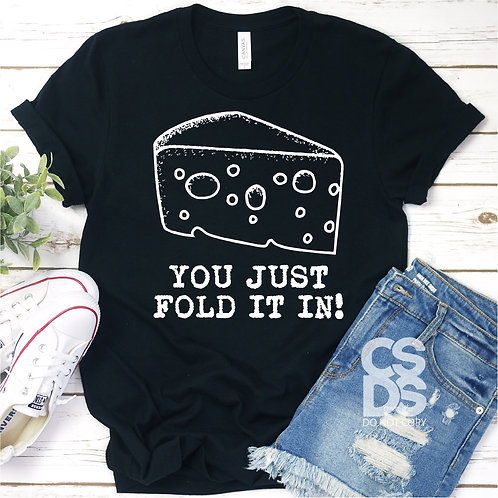 You just fold it in!