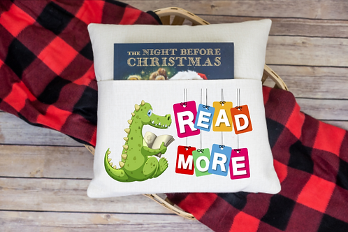 Read more dino pocket pillow cover