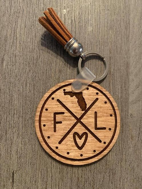Florida Circle Keychain