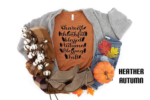 Harvest Thankful Blessed Autumn Blessing Fall