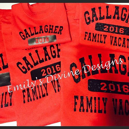 Family Vacation/Reunion Shirts