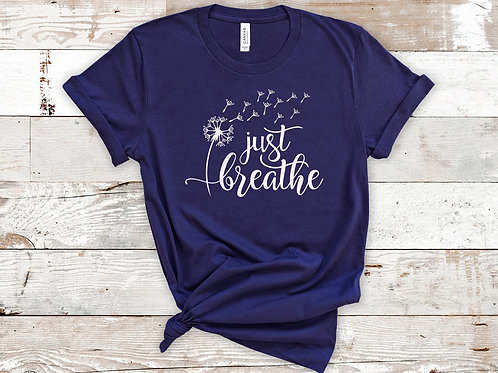 Just Breathe with flower