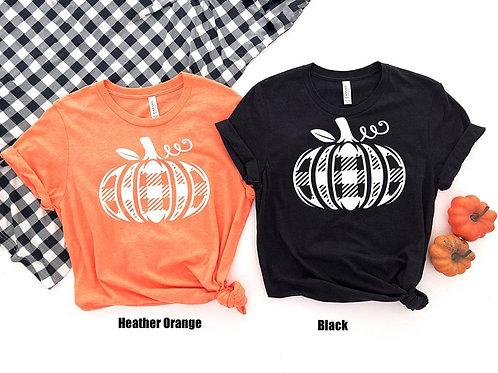Plaid Pumpkin (white OR black ink)